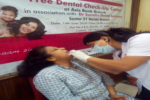 Dental Camp at Axis Bank